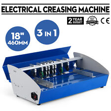 "New 18"" Electric 3-in-1 Scorer Perforator Paper Creasing Machine Scoring Creaser"