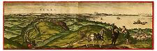 Vejer de la Frontera Cádiz Andalusia Spain bird's-eye view map Hogenberg ca.1575