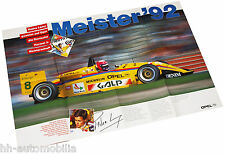 Opel Pedro Lamy Formel 3 Poster Beilage Opel Start 1992 - Top-Zustand!
