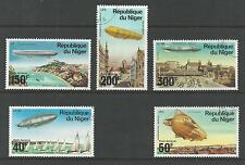NIGER # C273-277 Used HISTORY OF THE ZEPPELIN FLIGHTS