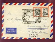 Poland 1957 Airmail Cover to Usa.Special Globe Cancel
