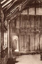 Postcard EXETER - DEVON.  St. Nicholas Priory, View across Guest Hall.   (A1)