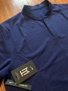Nike Golf Tiger Woods TW Dri-Fit Blade Polo Shirt BV9219 492 Men's Size Large L