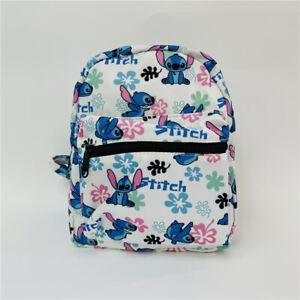 "lilo&stitch white oxford backpack mini shoulder bag unisex bag 8"" birthdaygift"