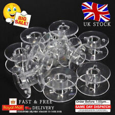 10-50-100 Clear Bobbins Sewing Machine Plastic Spool UNIVERSAL Fits Most Bands