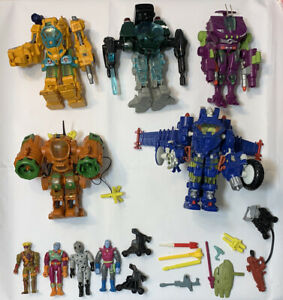 Vintage EXO SQUAD accessory weapons Lot Figures robotech playmates JT MARSH