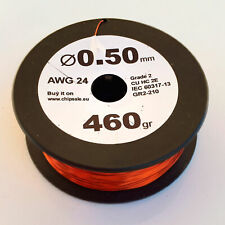 0.5 mm 24 AWG Gauge 460 gr ~260 m (1 lb) Magnet Wire Enameled Copper Coil