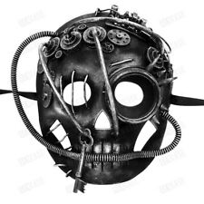 NEW Scary Halloween Mask Costume Full Face Skull Steampunk Gas Masquerade Mask