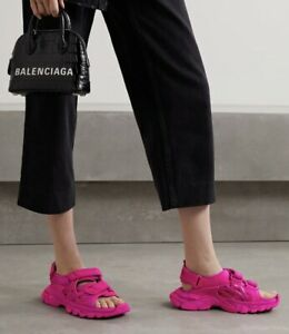 Balenciaga Pink Track Sandals Sneakers Size 38
