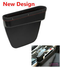 Storage Box New Black Leather SUV Car Seat Slit Catch Box Pen Coin Phone Holder