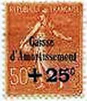 """FRANCE STAMP TIMBRE 250 """" CAISSE AMORTISSEMENT SEMEUSE +25c S.50c """" NEUF xx LUXE"""