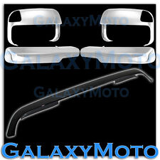 Dodge Ram 2500+3500 Smoke Bug Deflector Hood Guard+Chrome Towing Mirror+Cover