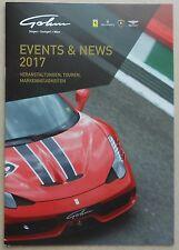 Ferrari Gohm 2017 Events News Prospekt Depliant Brochure Maserati book buch