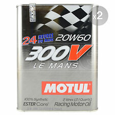 Motul 300V Le Mans 20W-60 Racing Engine Oil - 2 x 2 Litres 4L