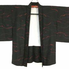 FABULOUS VINTAGE JAPANESE BLACK KIMONO HAORI #30