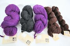 Manos Del Uruguay & Jamiesons Yarn Lot of 5-Skeins Purple,Black & Peat Rust New