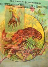 Hoover & Gamble Excelsior Binders & mowers Jaguar Hunters Safari Trade Card &K
