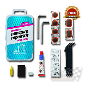 Bicycle Tyre Puncher Repair Kit Cycle Inner Tube patch Tools Leaver Weldtite