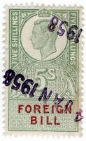 (I.B) George VI Revenue : Foreign Bill 5/-