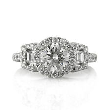 Mark Broumand 2.20ct Round Brilliant Cut Diamond Engagement Ring