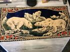 Polar Bear Tapestry Rug Wall Hanging Vintage Made In Italy Beautiful Colors