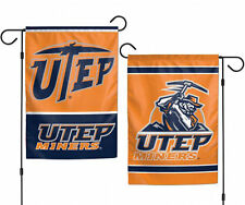 """University of Texas at El Paso Miners NCAA Garden Flag Double Sided 12.5"""" x 18"""""""