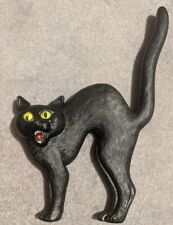 Vintage Don Featherstone Scared Black Cat Halloween Blow Mold Rare Fierce Arched