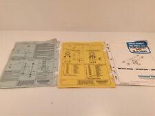 DresserWayne FK-10 Frame Kontact Hoist Service Manual And Parts List 1974