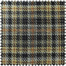 New Textured Woven Geometric Tartan Checked Pattern Chenille Upholstery Fabric