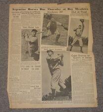 Oct 5,, 1937 'San Francisco Cal Bulletin' Newspaper Page-Lou Gehrig & DiMaggio