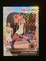 2019-20 NBA Hoops Premium Stock Keldon Johnson CHECKERBOARD PRIZM SSP RC #/149