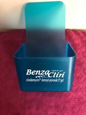 Pharmaceutical Drug Rep BENZACLIN ACNE GEL Blue Acrylic Letter, Pen Storage Box