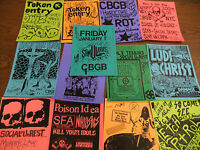 CBGB Repo Punk Flyer LOT Token Entry Cro Mags Ludichrist Stimulators Poison Idea