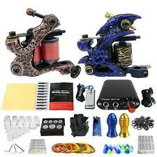 Solong Beginner Tattoo Kit 2 Pro Machine Tips Power Supply Set TK201-5