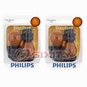 2 pc Philips Parking Light Bulbs for Ford C-Max Contour Crown Victoria Edge wj