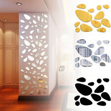 Self-adhesive Vinyl Mural Art Wall Stickers 3D Pebble Decals Mirror Surface