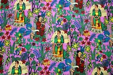 Indian Cotton Fabric Summer Dresses In Ethnic Print Boho Fabric By The Yard