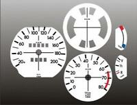 1973-1976 BMW 2002 KMH METRIC Dash Cluster White Face Gauges KM/H 73-76