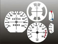 1973-1976 BMW 2002 KMH METRIC Dash Cluster White Face Gauges KM/H 73-76