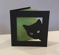 Customised papercut cat kitten card birthday anniversary Valentine Mothers Day