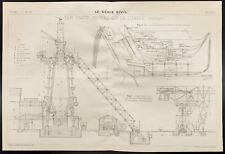 Plan ancien des hauts fourneaux de Lubeck. 1909, Génie civil. Allemagne
