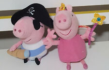 2 PEPPA PIG PLUSH TOY PIRATE GEORGE! SOFT TOY FAIRY PEPPA ABOUT 16CM TALL!