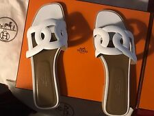 Hermes Omaha Sandals White 37