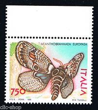 ITALIA 1 FRANCOBOLLO CON ANIMALI FARFALLE ACANTHOBRAHMAEA EUROPEA 1996 nuovo**