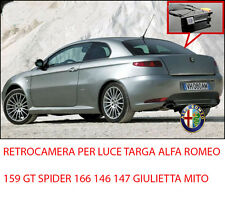 Retrocamera Parcheggio Luce Targa Visione Notturna ALFA ROMEO 159 GIULIETTA 147