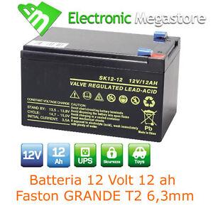 Batteria ricaribaile per bici elettriche al Piombo 12V Volt 12Ah 6DZM-10 alta Q