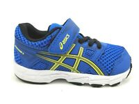ASICS Kid's Size 6 Contend 5 TS Running Shoes 1014A046 Blue/Lemon Spark