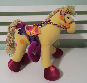GROOVY GIRLS HORSE PLUSH TOY SOFT TOY POSABLE MANHATTAN TOY 2001 31CM LONG