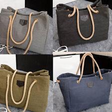 Damen Canvas Handtasche Schulter Tasche Schultertasche Shopper Umhänge bag