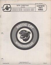 1976 Arctic Cat Snowmobile Cheetah 440, 500 P/N 0185-065 Parts Manual (054)